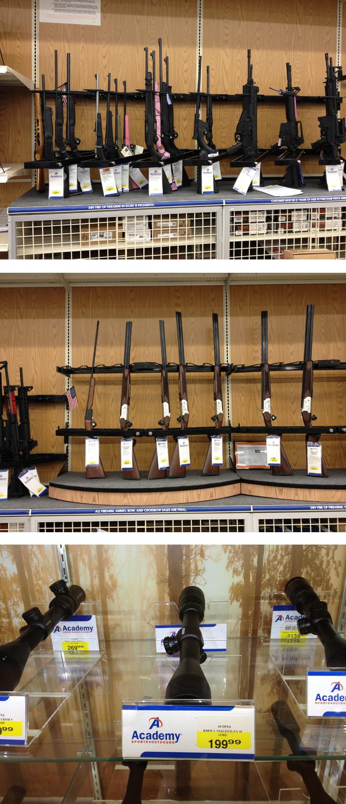 달라스 아카데미의 총기판매코너